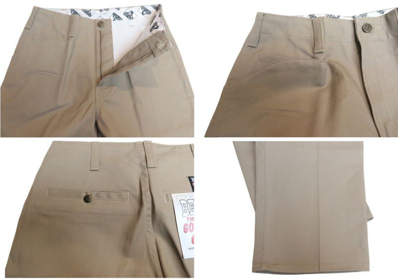 "画像4: BEN DAVIS  ""THE GORILLA CUT"" Wide Work Pants BEIGE size  w 30 / w 32"