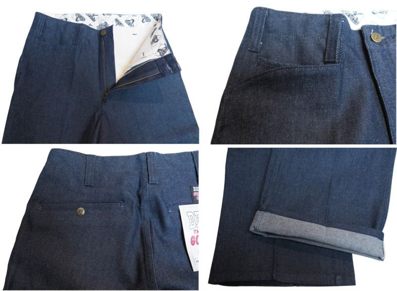 "画像4: BEN DAVIS  ""THE GORILLA CUT"" Wide Work Pants BLUE DENIM size w 30 / w 32"