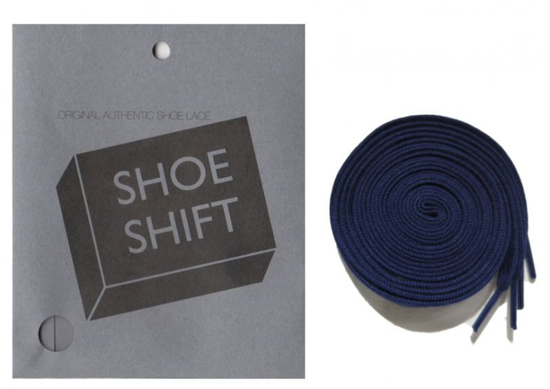 "画像1: SHOE SHIFT ""Regular Width"" Cotton Shoelace -made in JAPAN- NAVY (1)"