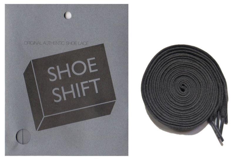 """画像1: SHOE SHIFT """"Regular Width"""" Cotton Shoelace -made in JAPAN- GREY (1)"""