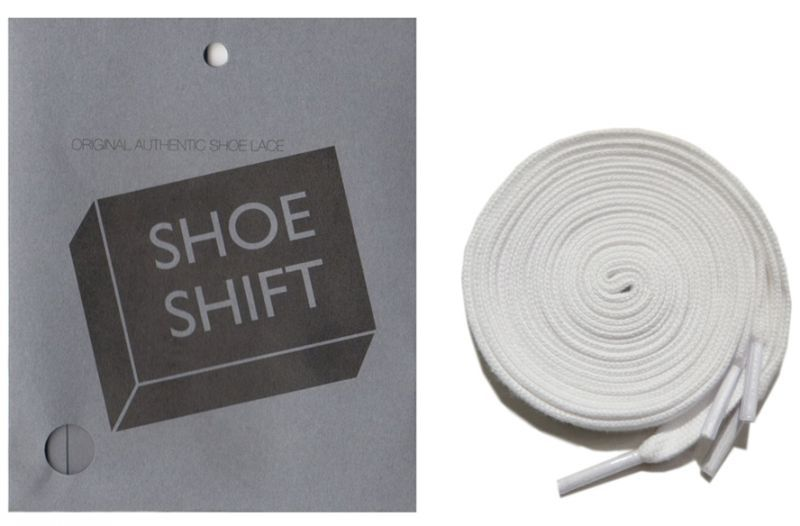 "画像1: SHOE SHIFT ""Regular Width"" Cotton Shoelace -made in JAPAN- WHITE"