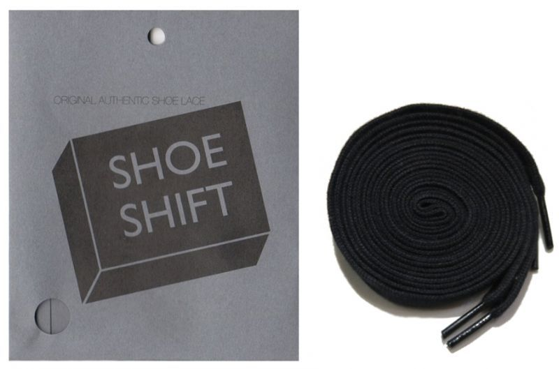 "画像1: SHOE SHIFT ""Regular Width"" Cotton Shoelace -made in JAPAN- BLACK (1)"