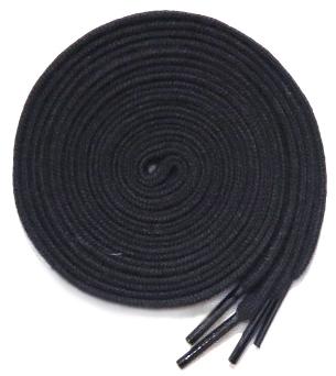 """画像3: SHOE SHIFT """"Narrow Width"""" Cotton Shoelace -made in JAPAN- BLACK"""