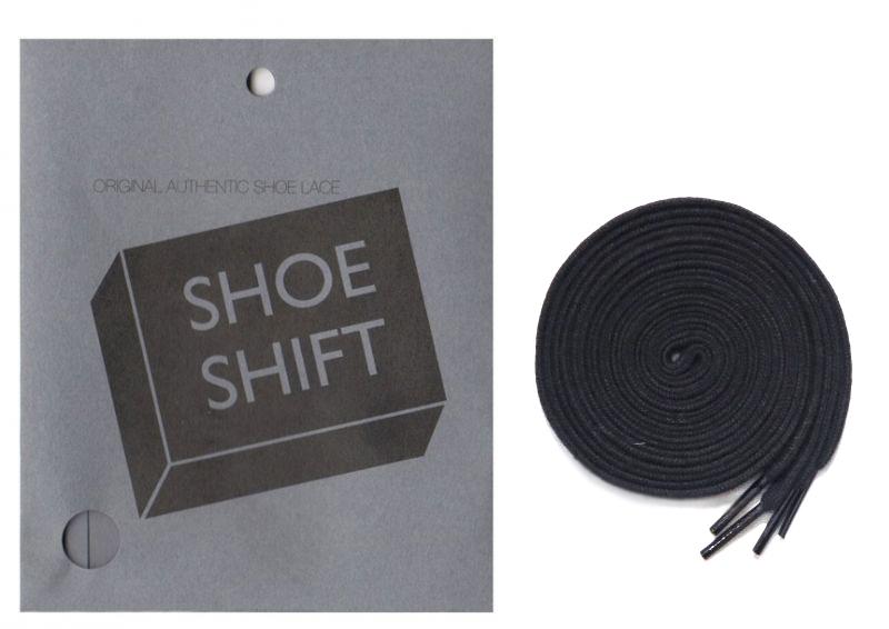 """画像1: SHOE SHIFT """"Narrow Width"""" Cotton Shoelace -made in JAPAN- BLACK"""