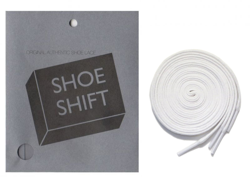 "画像1: SHOE SHIFT ""Narrow Width"" Cotton Shoelace -made in JAPAN- WHITE (1)"
