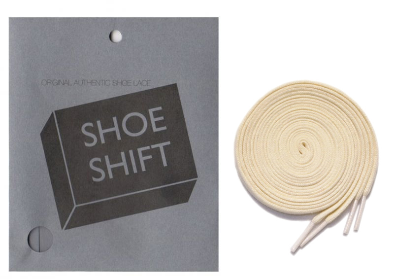 "画像1: SHOE SHIFT ""Narrow Width"" Cotton Shoelace -made in JAPAN- NATURAL"