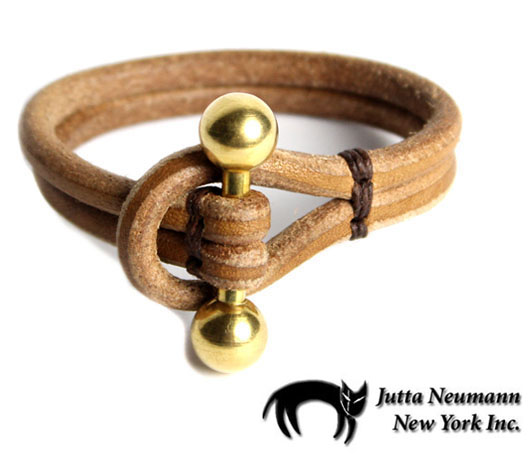 画像1: JUTTA NEUMANN Leather Wrist Band ブレスレット color : Natural Tan size : S, M, L