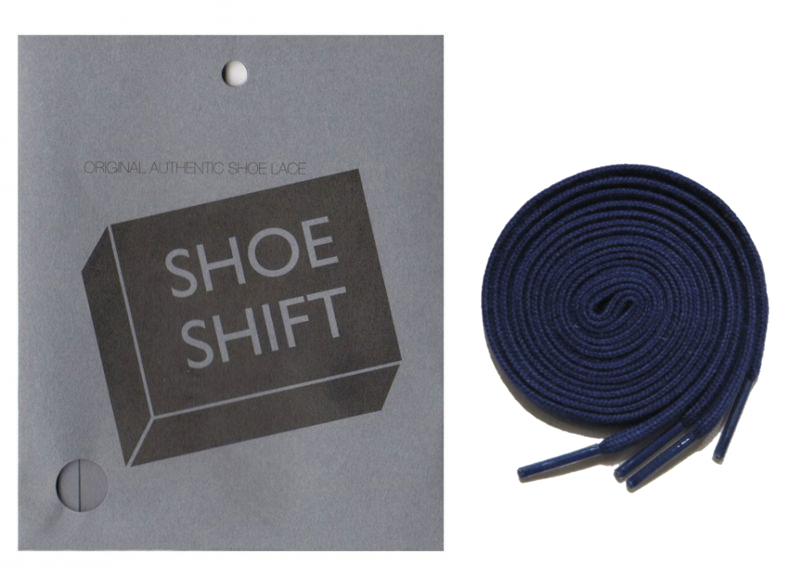 "画像1: SHOE SHIFT ""Narrow Width"" Cotton Shoelace -made in JAPAN- NAVY"