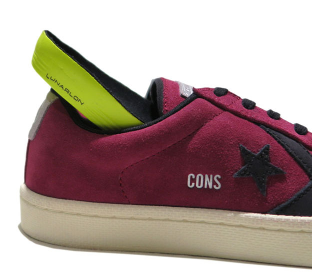 "画像5: NEW CONVERSE ""PRO LEATHER LOW"" Suede Skate Shoes  -NIKE ルナロンソール- Burgundy/Black size 8.5, 9.5, 10, 12"