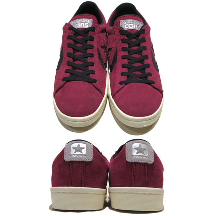 "画像2: NEW CONVERSE ""PRO LEATHER LOW"" Suede Skate Shoes  -NIKE ルナロンソール- Burgundy/Black size 8.5, 9.5, 10, 12"