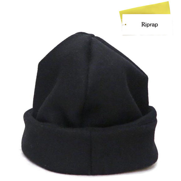 "画像1: Riprap ""MELTON WATCH CAP"" -made in JAPAN- color : BLACK size : M (59cm)"
