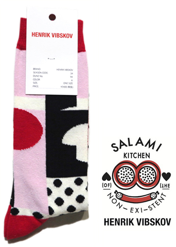 "画像1: A) HENRIK VIBSKOV ""Balance Socks"" color : Red & Pink size FREE"