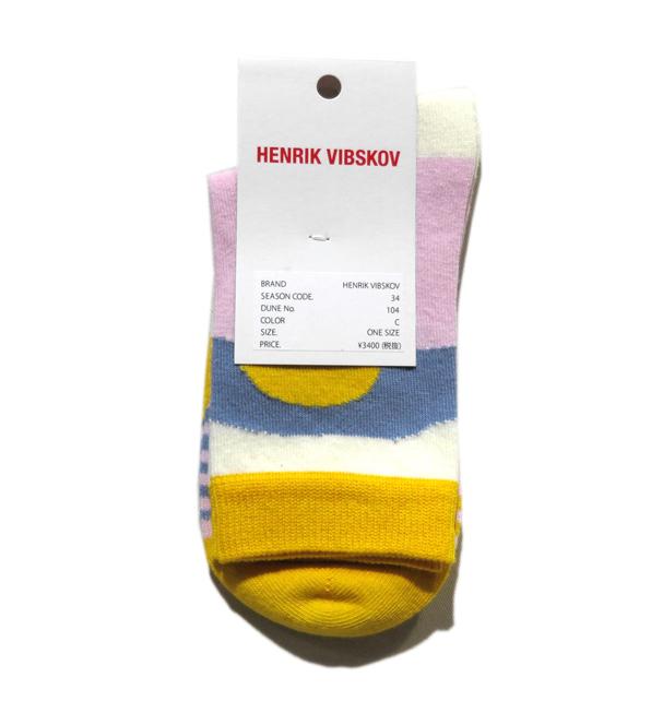 """画像2: 2) HENRIK VIBSKOV """"Mars Femme Socks"""" color : Yellow Tone size FREE(Woman's)"""