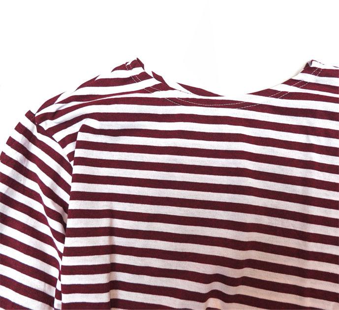 画像2: DEAD STOCK  Russian Border L/S T-Shirts BURGUNDY size 56-58