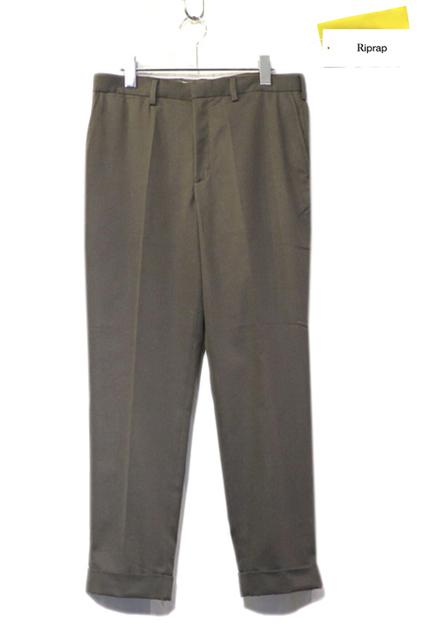 """画像1: Riprap """"No Tuck Slacks"""" color : BROWN OLIVE size : SMALL-SHORT, MEDIUM-SHORT"""
