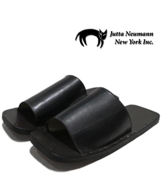 """画像1: JUTTA NEUMANN """"SAM"""" BLACK Leather Sandal size 7 D, 8 D, 9 D, 10 D"""