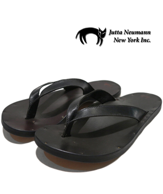 "画像1: JUTTA NEUMANN ""JAMES"" Leather Sandal BLACK size 7 D, 8 D, 9 D, 10 D"