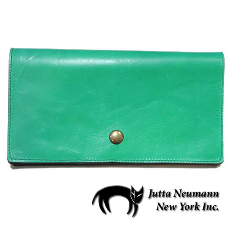 "画像1: ""JUTTA NEUMANN"" Leather Wallet ""the Waiter's Wallet""  color : Kelly Green / Violet 長財布"