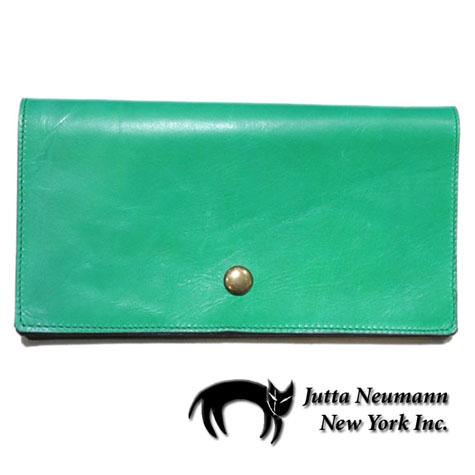 """画像1: """"JUTTA NEUMANN"""" Leather Wallet """"the Waiter's Wallet""""  color : Kelly Green / Olive 長財布"""