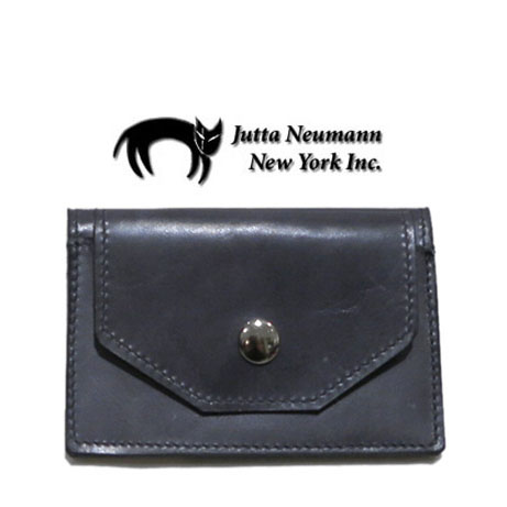 "画像1: ""JUTTA NEUMANN"" Leather Card Case with Change Parse color : Charcoal / Yellow Green"