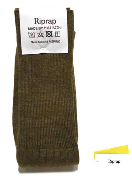 "画像1: Riprap ""NZ MERINO LONG HOSE SOCKS"" color : DRIED LEAF size FREE (25~27cm)"