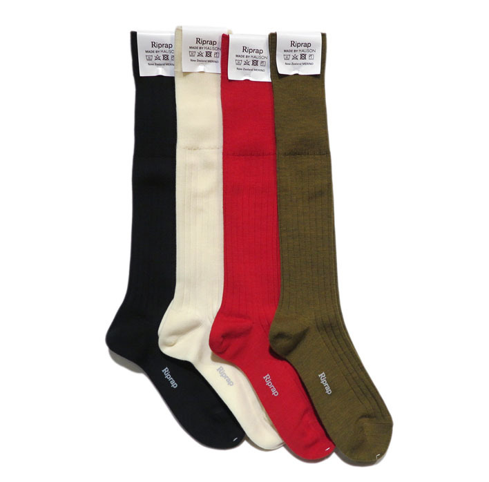 "画像5: Riprap ""NZ MERINO LONG HOSE SOCKS"" color : DRIED LEAF size FREE (25~27cm)"