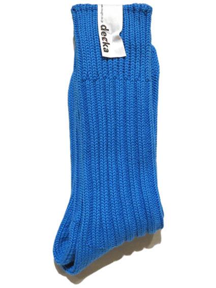 """画像1: decka quality socks """"HEAVY WAIGHT PLAIN SOCKS"""" made in JAPAN ONE SIZE color : BLUE"""