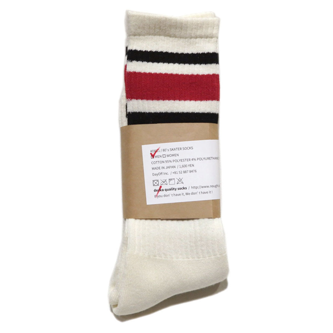 "画像2: decka quality socks ""SKATER SOCKS"" made in JAPAN ONE SIZE color : Red"