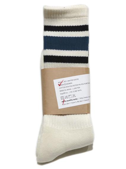 """画像1: decka quality socks """"SKATER SOCKS"""" made in JAPAN ONE SIZE color : Blue"""