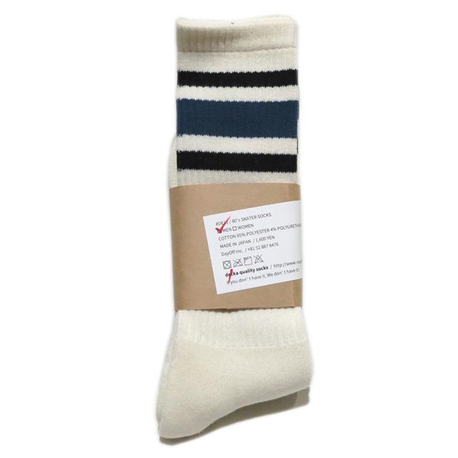 """画像2: decka quality socks """"SKATER SOCKS"""" made in JAPAN ONE SIZE color : Blue"""