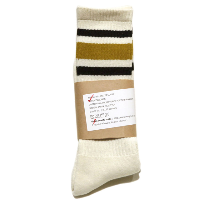 "画像2: decka quality socks ""SKATER SOCKS"" made in JAPAN ONE SIZE color : Yellow"