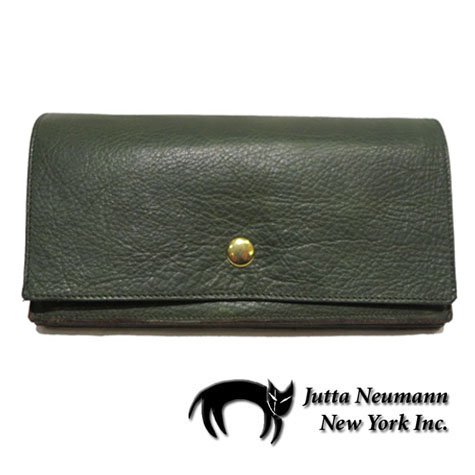 "画像1: ""JUTTA NEUMANN"" Leather Wallet ""the Waiter's Wallet""  color : Green / Orange 長財布"