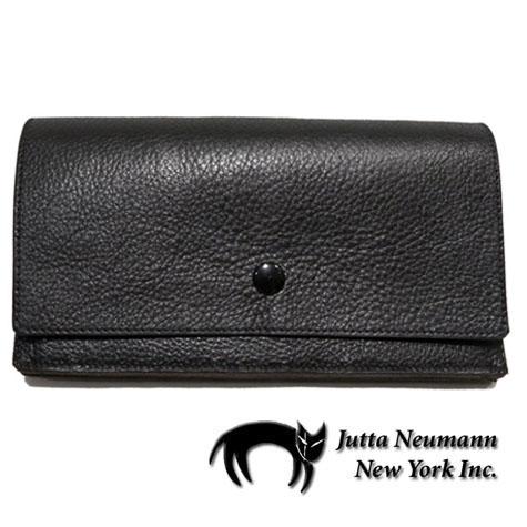 """画像1: """"JUTTA NEUMANN"""" Leather Wallet """"the Waiter's Wallet""""  color : Black / Lavender 長財布"""