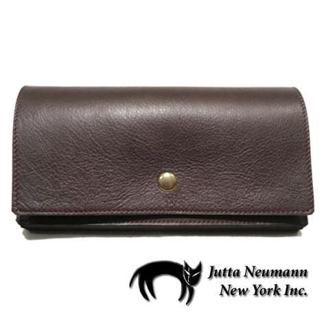 """画像1: """"JUTTA NEUMANN"""" Leather Wallet """"the Waiter's Wallet""""  color : Brown / Light Blue 長財布"""