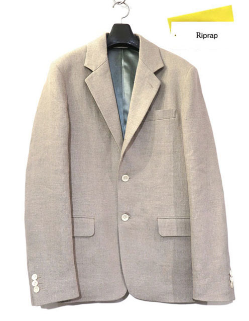 "画像1: Riprap ""LINEN 3B JACKET"" color : FLAX size : MEDIUM, LARGE"