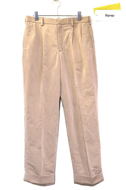 "画像1: Riprap ""TWO TUCK SLACKS"" color : BEIGE size : SMALL-R, MEDIUM-R, LARGE-R"