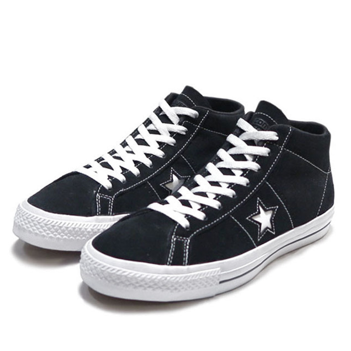 "画像1: NEW CONVERSE ""ONE STAR"" MID Suede Skate Shoes BLACK size 11"