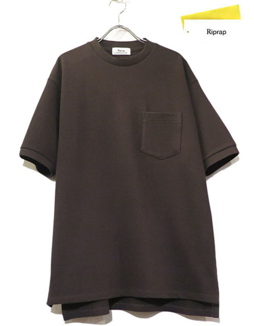 "画像1: Riprap ""CREW NECK POCKET POLO SHIRTS""  color : DARK BROWN size : LARGE"