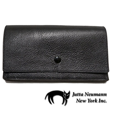 "画像1: ""JUTTA NEUMANN"" Leather Wallet ""the Waiter's Wallet""  color : Black / Baby Blue 長財布"
