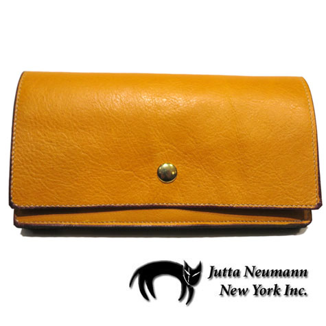 "画像1: ""JUTTA NEUMANN"" Leather Wallet ""the Waiter's Wallet""  color : Mustard / Violet 長財布"
