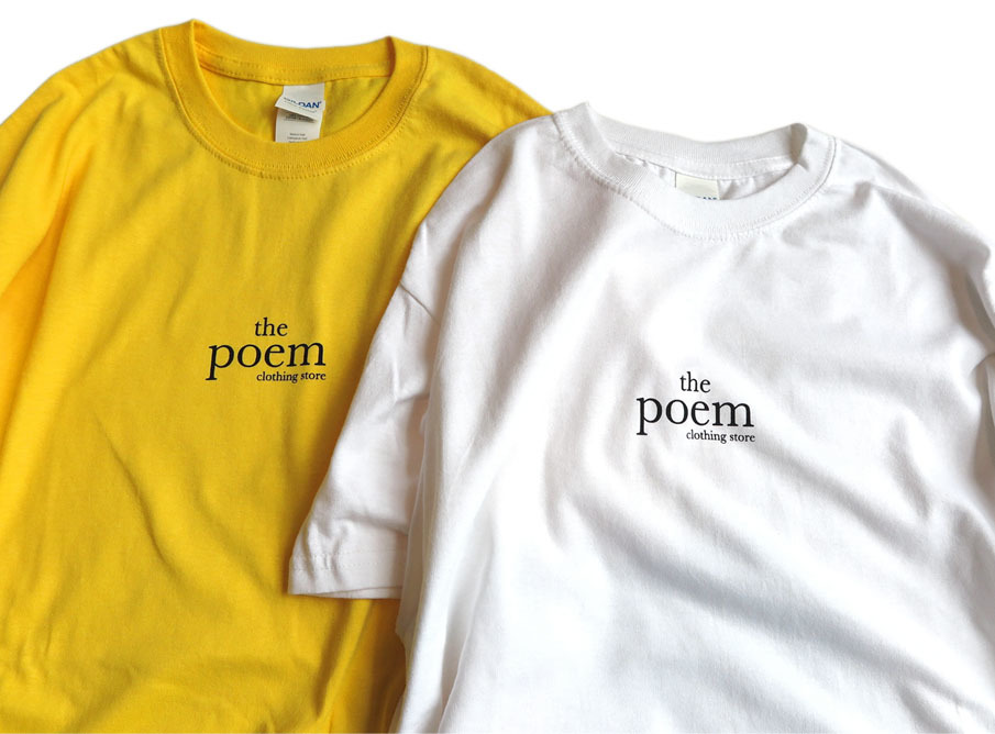 "画像3: the poem clothing store ""LOGO S/S Tee"" WHITE size S,M,L,XL,2XL"