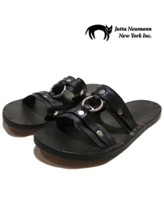"画像1: JUTTA NEUMANN ""MICHAEL"" Leather Sandal BLACK size 7 D"