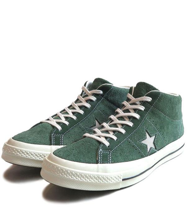 """画像1: NEW Converse """"ONE STAR"""" MID Suede Sneaker GREEN size 10"""