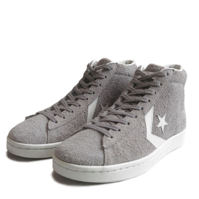 "画像1: NEW CONVERSE ""PRO LEATHER "" MID Suede Skate Shoes GREY size 9, 9.5, 10 (1)"