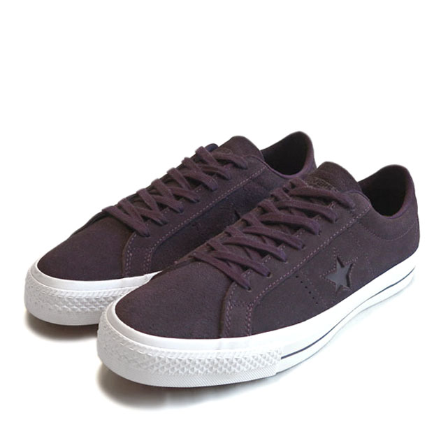 "画像1: NEW CONVERSE ""ONE STAR"" Suede Skate Shoes PURPLE size 10 (1)"