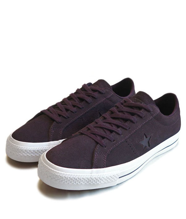 "画像1: NEW CONVERSE ""ONE STAR"" Suede Skate Shoes PURPLE size 10"