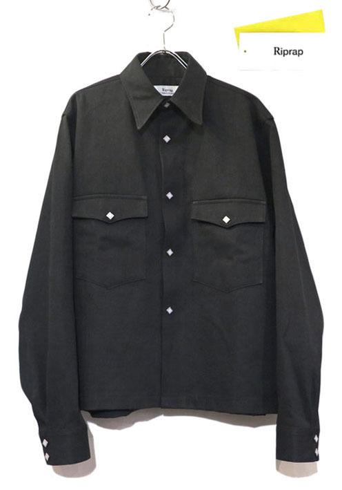 """画像1: Riprap """"Long Point Short Length Western Shirts"""" the poem exclusive color : TYPE BLACK"""
