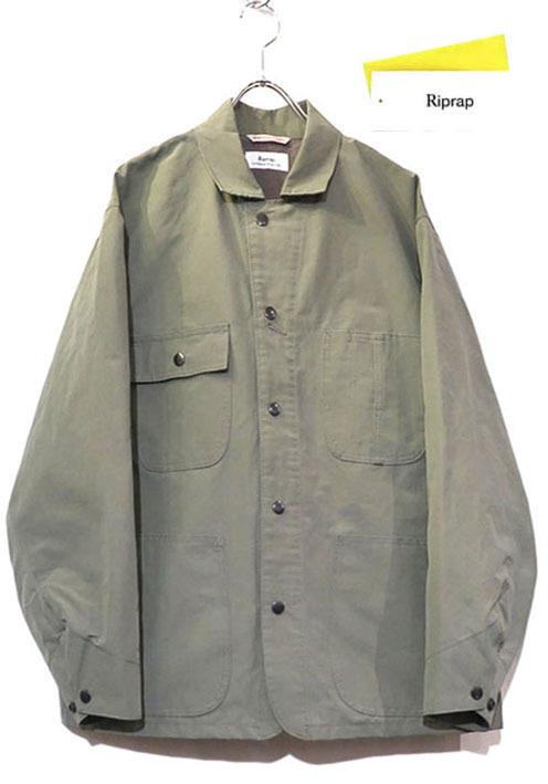 """画像1: Riprap """"C/N Grosgrain Chore Coat"""" color : MOSS"""