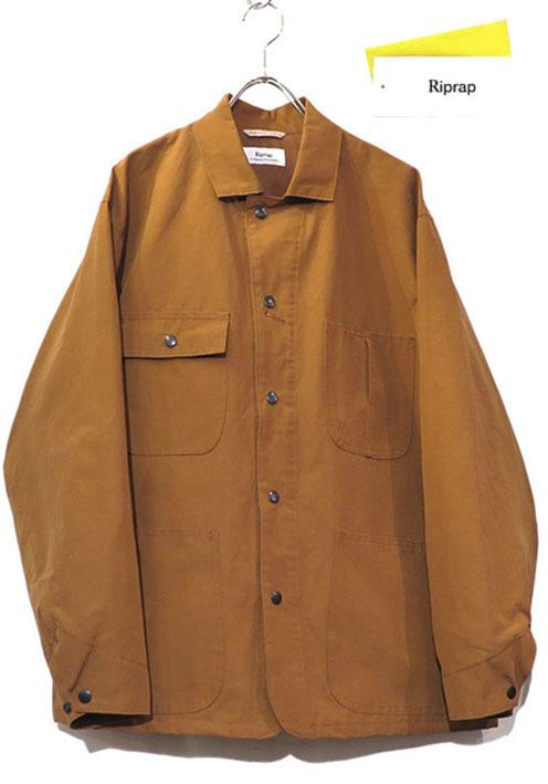 """画像1: Riprap """"C/N Grosgrain Chore Coat"""" color : SADDLE BROWN"""
