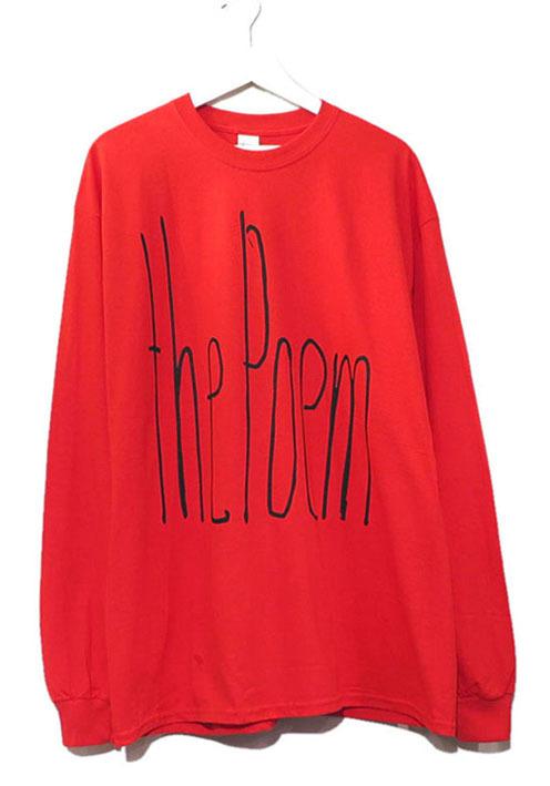 """画像1: the poem clothing store """"NEW LOGO L/S Tee"""" RED size L, XL, 2XL, 3XL"""